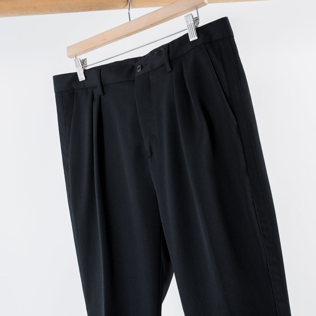 ARCHIVE SALE - NONNATIVE - PORTER SLACKS WOOL TWILL BLACK