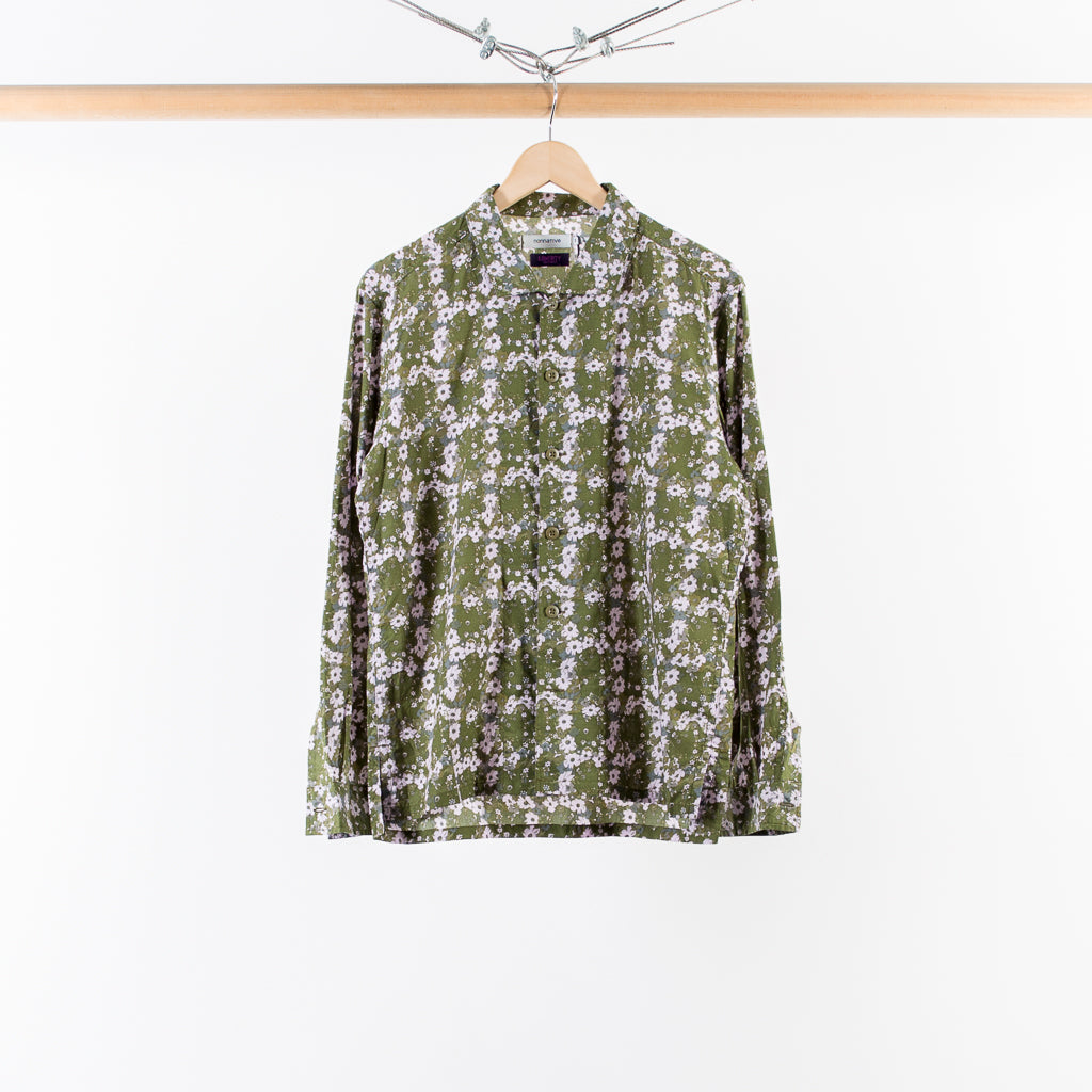 TOURIST SHIRT OLIVE LIBERTY PRINT