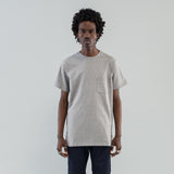 DWELLER S/S TEE COTTON HEAVY JERSEY - GRAY