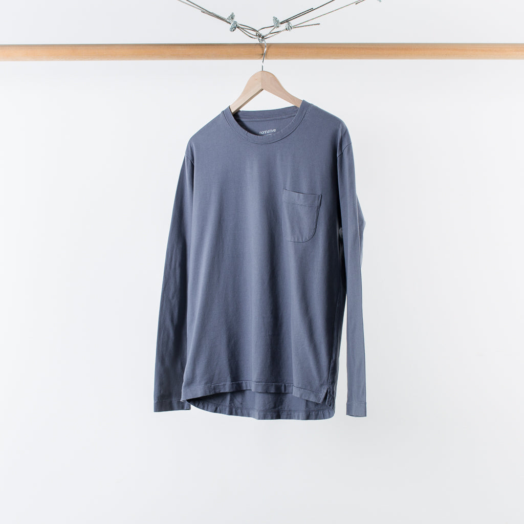 ARCHIVE SALE - NONNATIVE - DWELLER LS T-SHIRT LOOSE FIT GREY