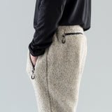 FLEECE TRACK PANTS - HEATHER GREY