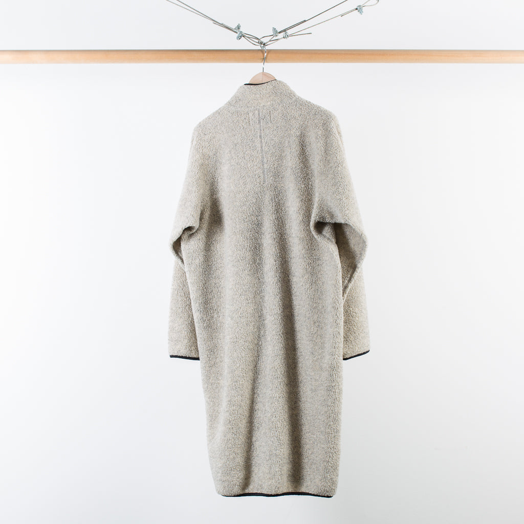 ARCHIVE SALE - NOMA T.D. - FLEECE LONG CARDIGAN HEATHER GRAY
