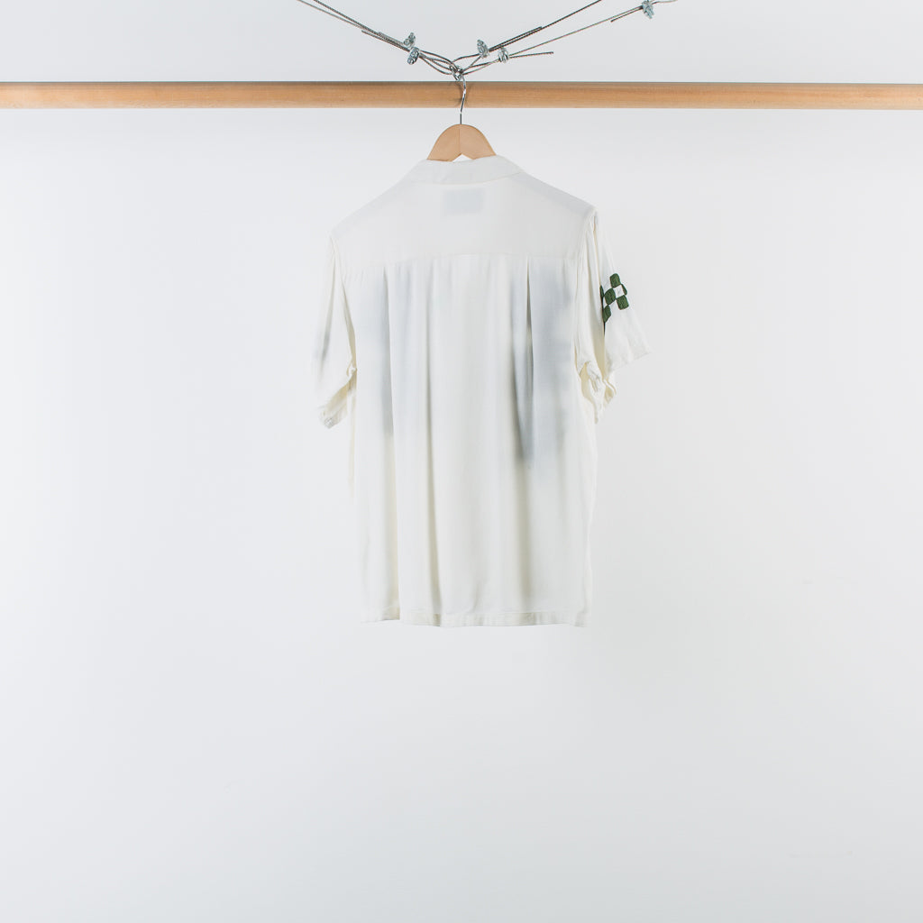 ARCHIVE SALE - NOMA T.D. - HAND EMBROIDERED SS SHIRT BLUE / GREEN