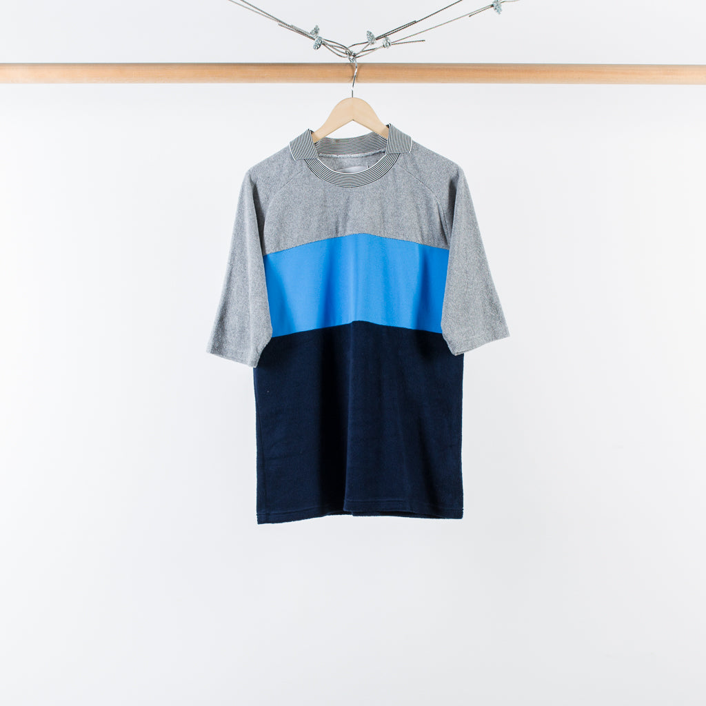 ARCHIVE SALE - NOMA T.D. - PILE FOOTBALL TEE GRAY / BLUE