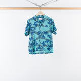 ARCHIVE SALE - NOMA T.D. - SUMMER SHIRT CHECKER PAISLEY TURQUOISE