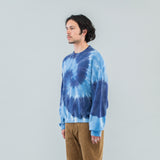 TIE DYE TWISTED SWEAT - CIRCLE NAVY BLUE