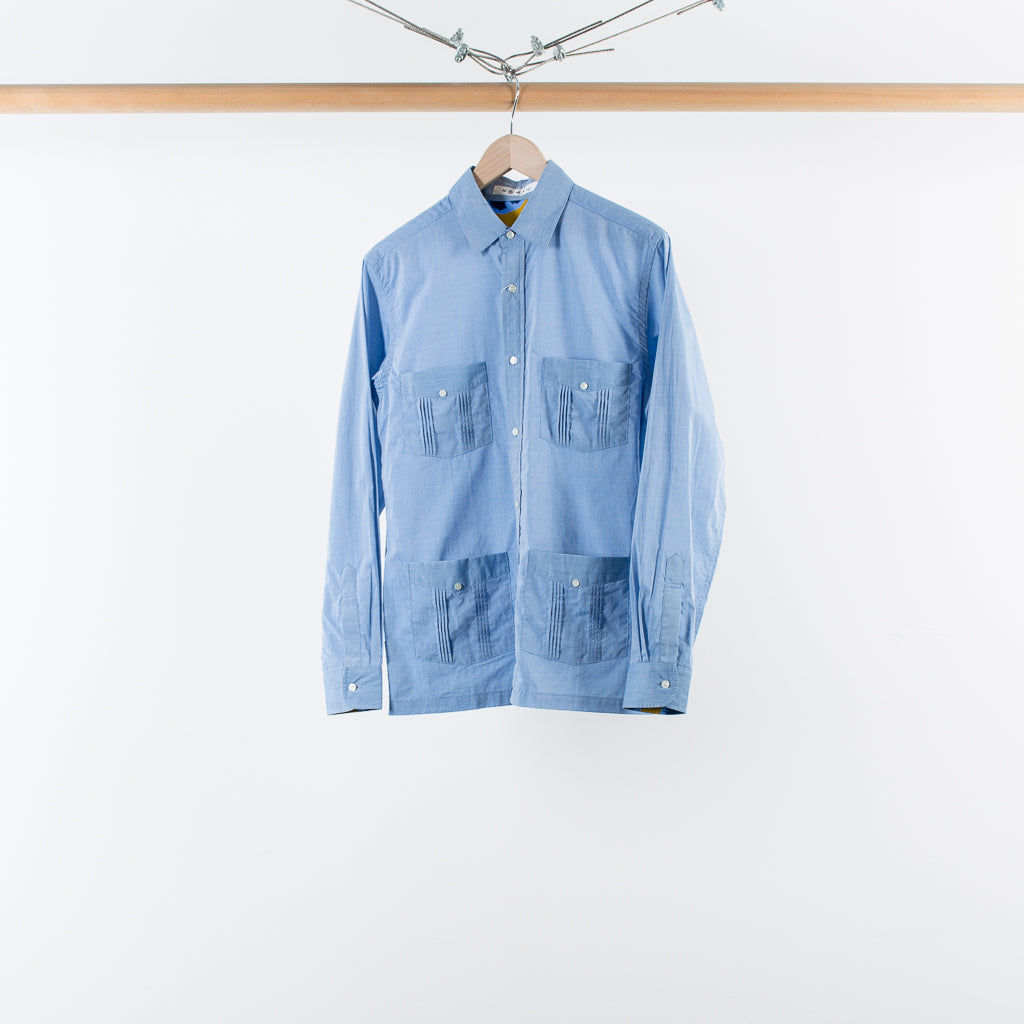 ARCHIVE SALE - NOMA T.D. - PLEATED POCKET SHIRT SAX