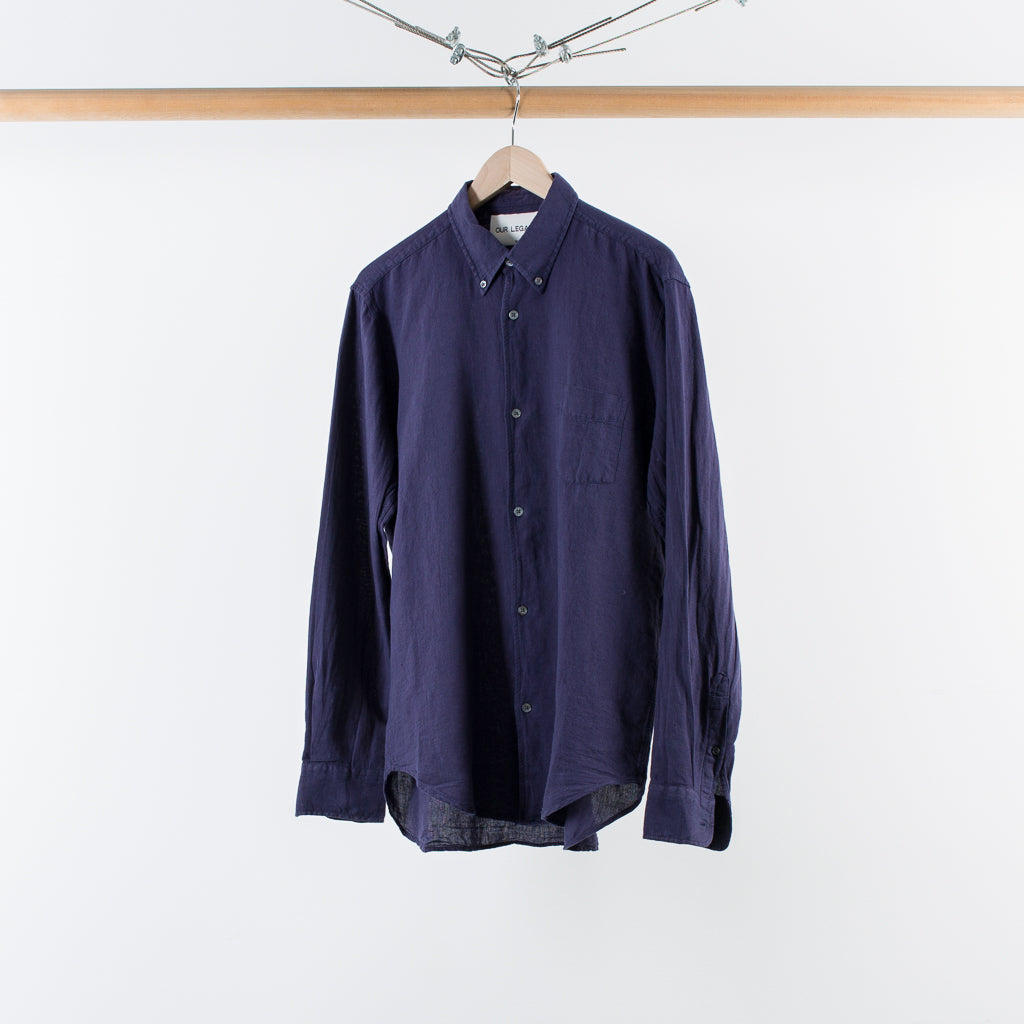 ARCHIVE SALE - OUR LEGACY - 1950s SHIRT PURPLE BLUE