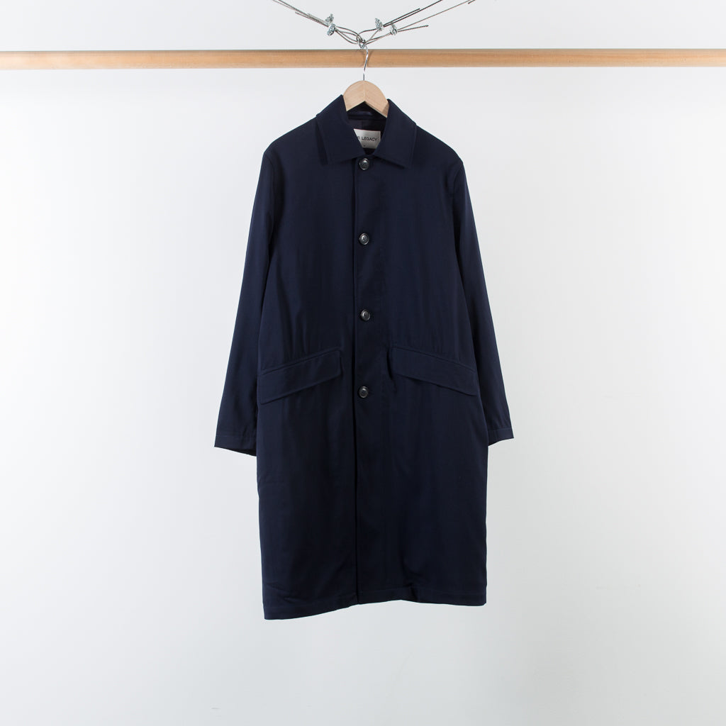 ARCHIVE SALE - OUR LEGACY - CLASSIC CAR COAT NAVY WORSTED WOOL