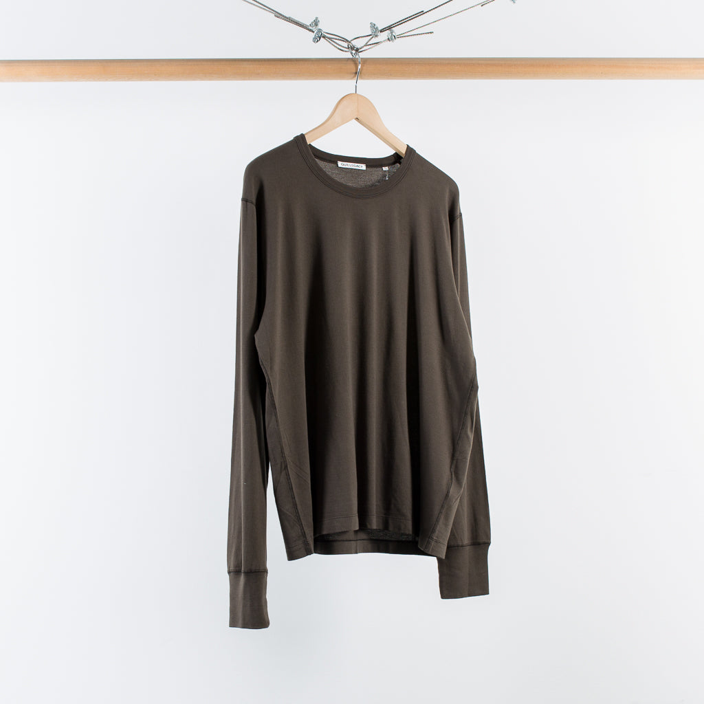 ARCHIVE SALE - OUR LEGACY - HALF RAGLAN JERSEY DARK OLIVE