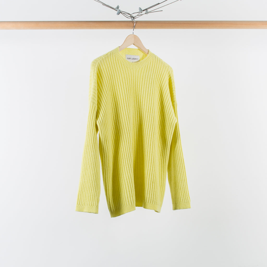ARCHIVE SALE - OUR LEGACY - POPOVER ROUNDNECK CITRON WOOL
