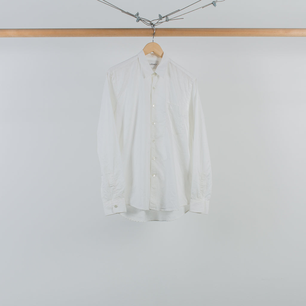 ARCHIVE SALE - OUR LEGACY - FIRST SHIRT PRESSED WHITE CRINKLE