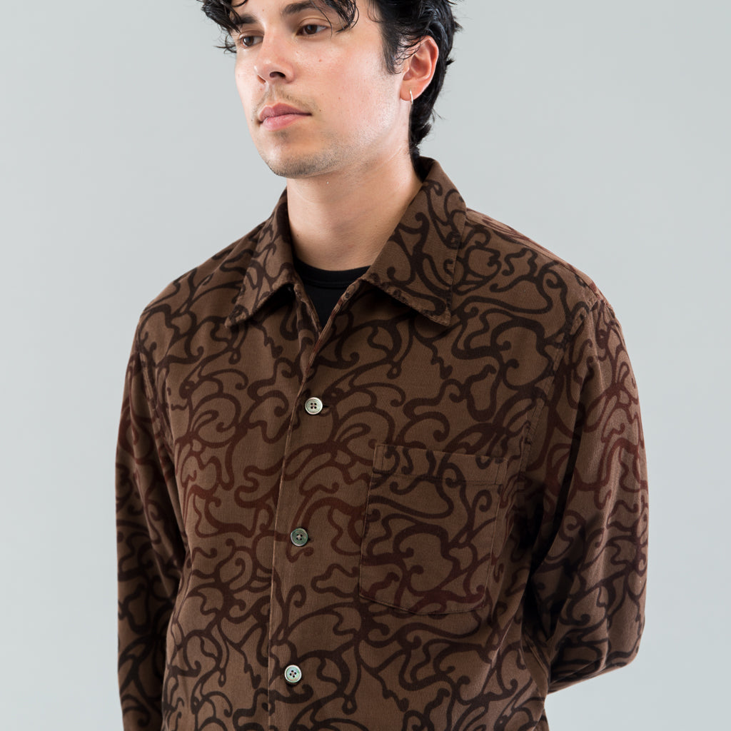 P.X. EVENING SHIRT - SWIRL PRINT