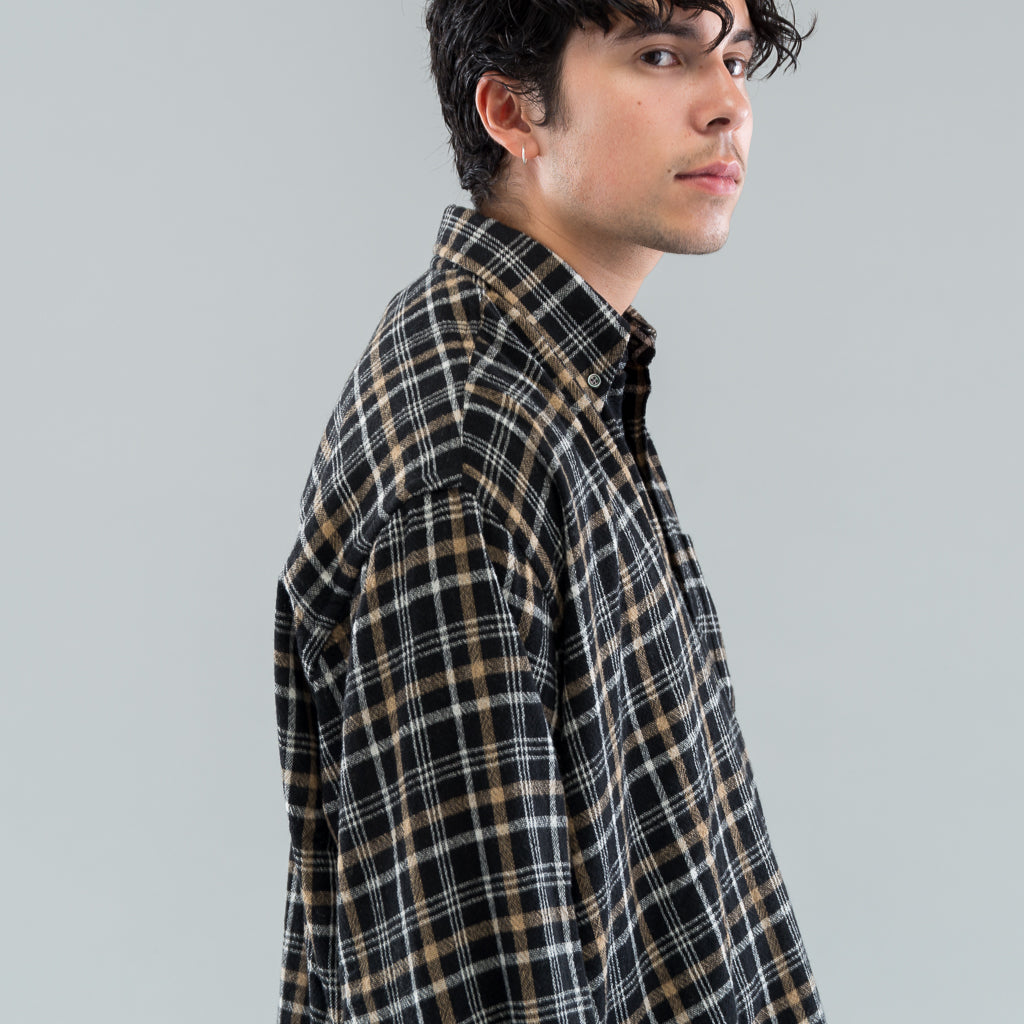 BORROWED BD SHIRT - BROWN CHECK