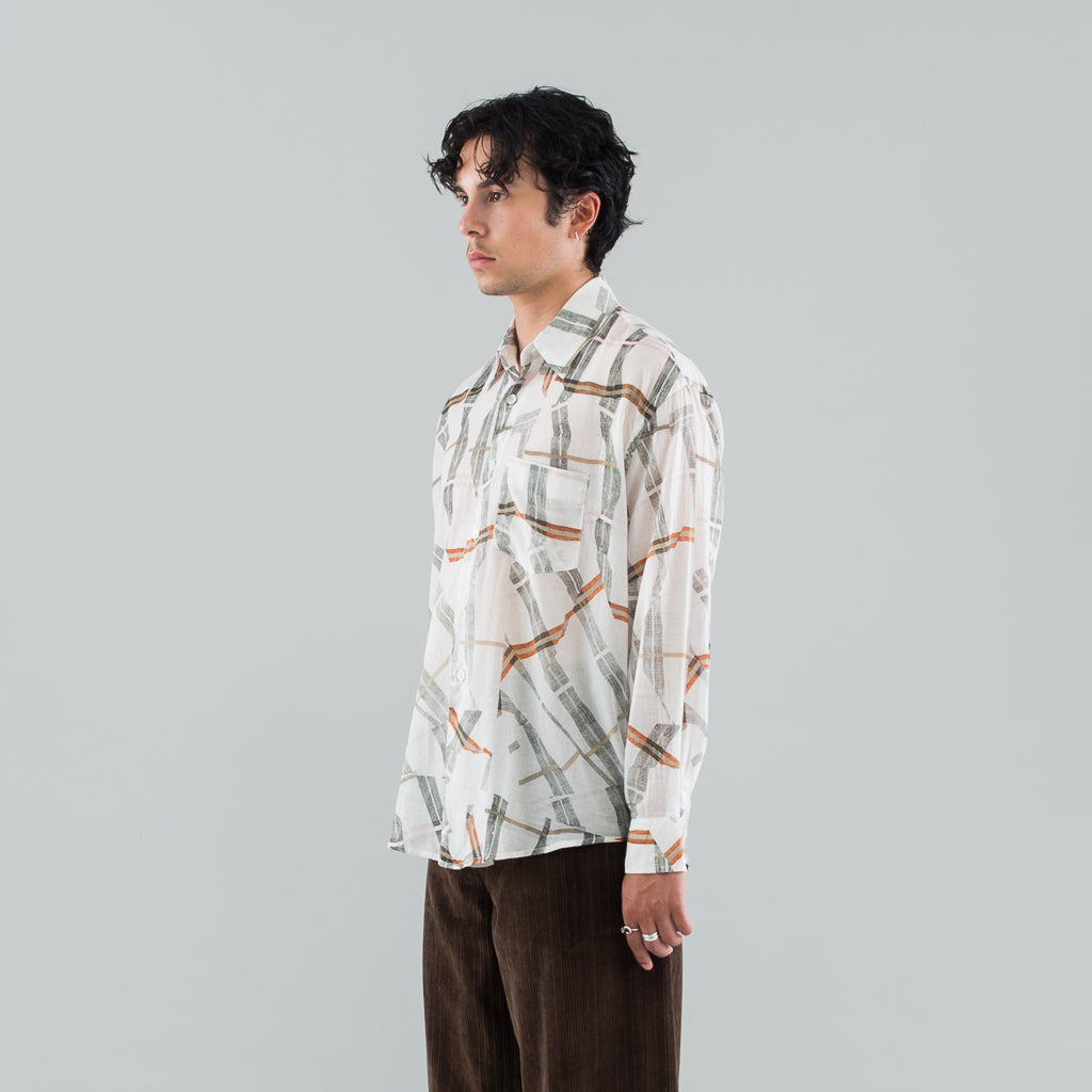 COCO SHIRT - WHITE CRACKED CHECK