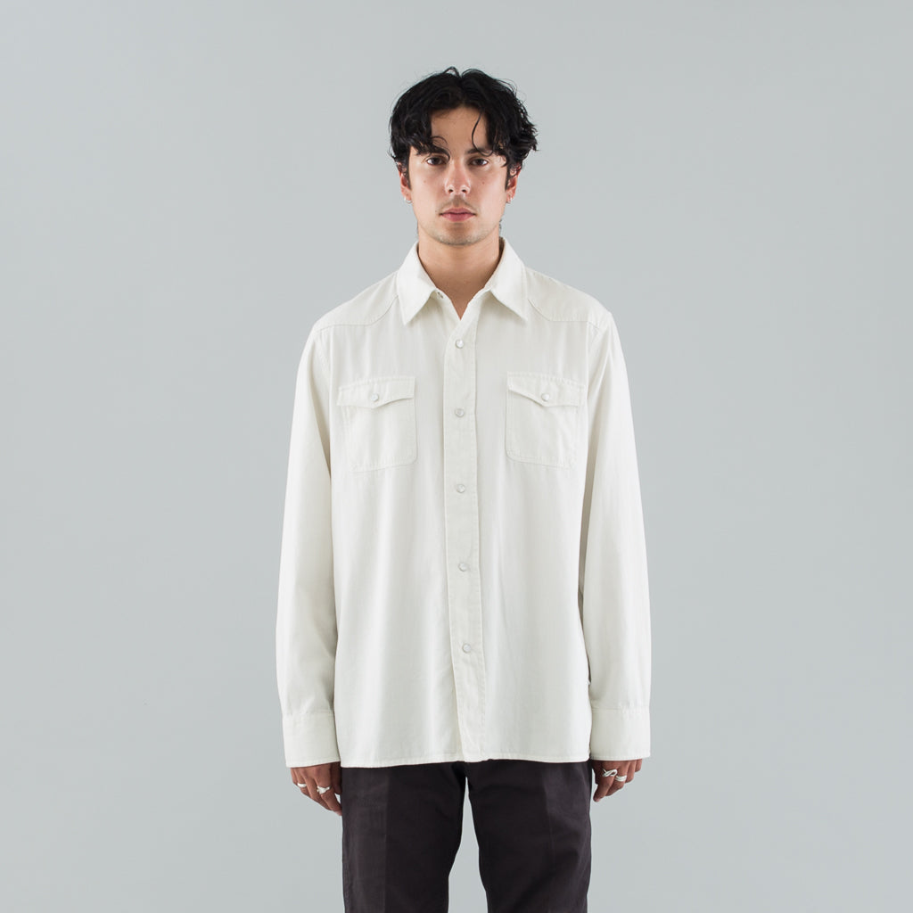 NEW FRONTIER SHIRT - MARSHMALLOW