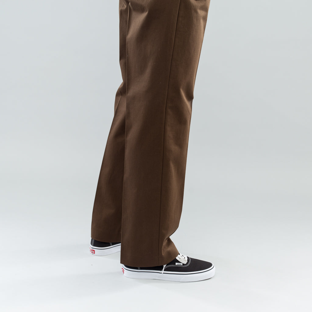 CHINO 24 - DARK BROWN SATIN