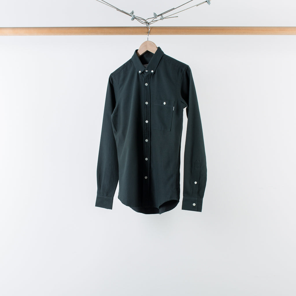 ARCHIVE SALE - PATRIK ERVELL - EMERALD BUTTON COLLAR SHIRT