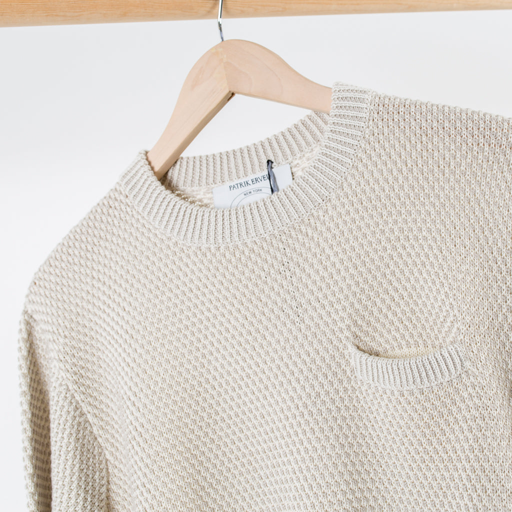 ARCHIVE SALE - PATRIK ERVELL - POCKET SWEATER DOVE GREY