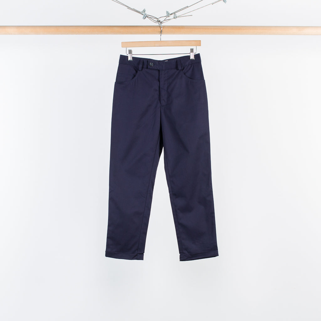 FIVE POCKET CROPPED PANT NAVY