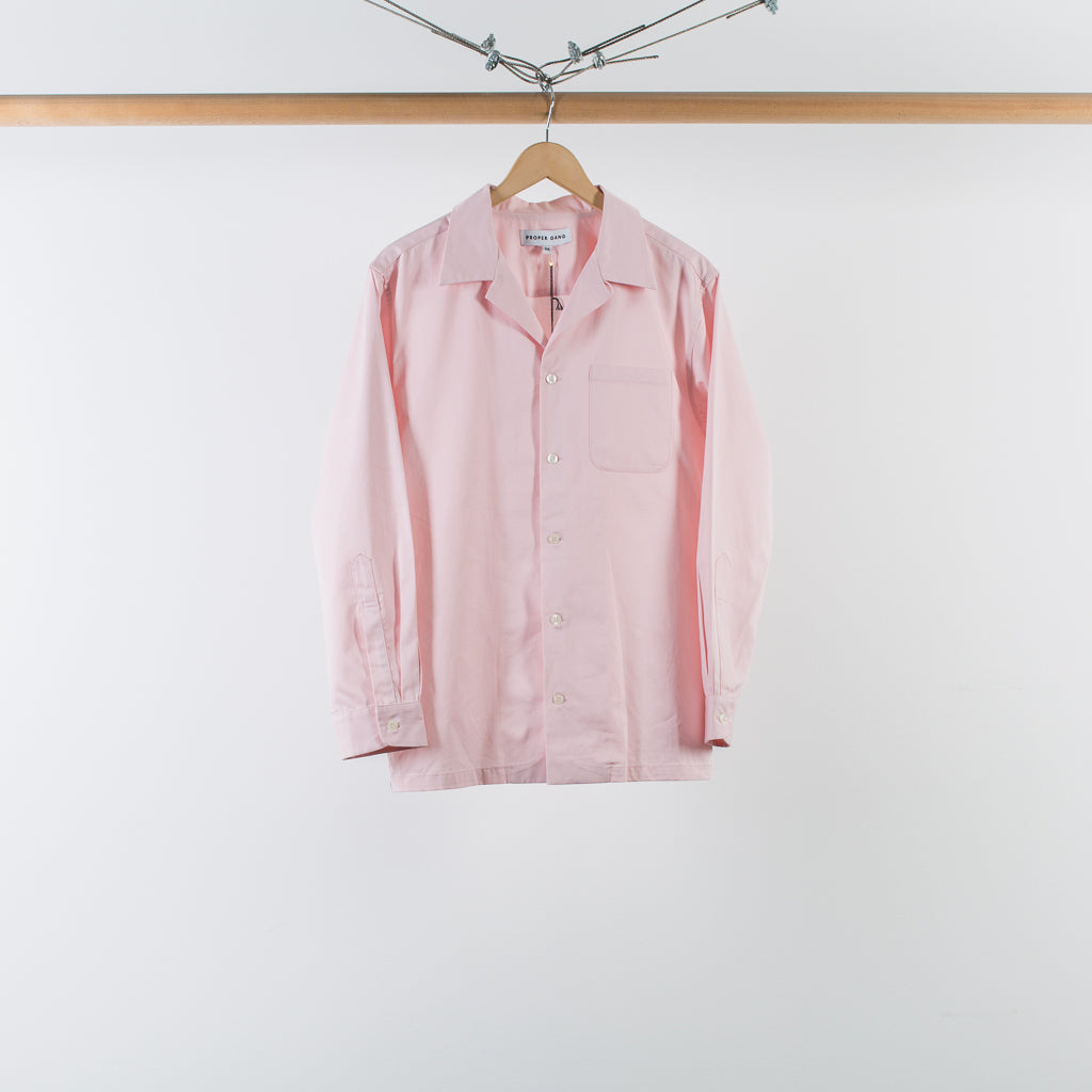 LOOP COLLAR SHIRT PINK