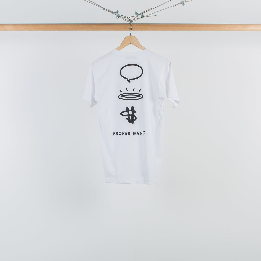 ARCHIVE SALE - PROPER GANG - LOGO T-SHIRT WHITE