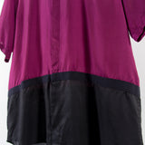 ARCHIVE SALE - ROBERT GELLER - TWO TONE TAPED S/S FUSCHIA