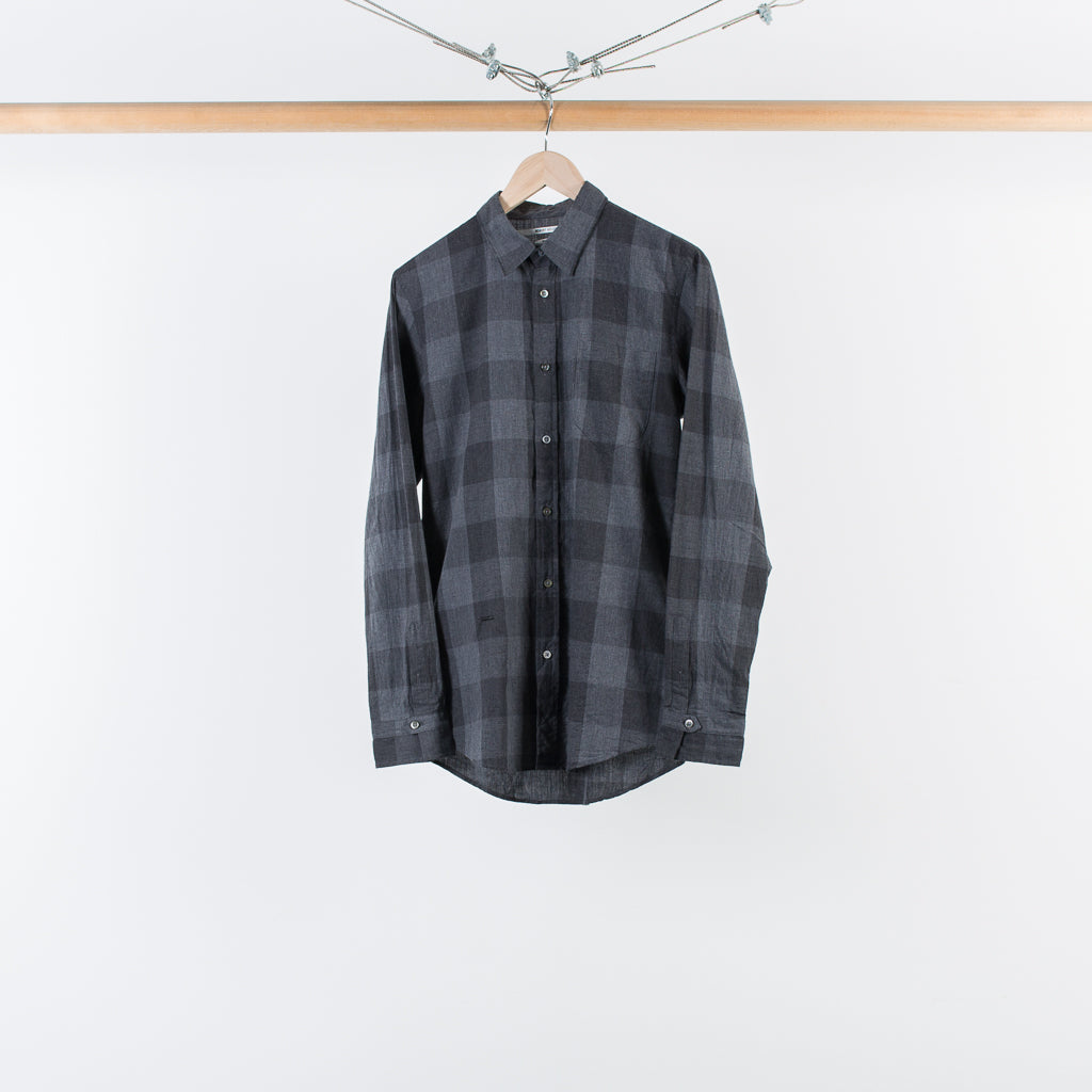 CHECK CHEST POCKET SHIRT BLACK