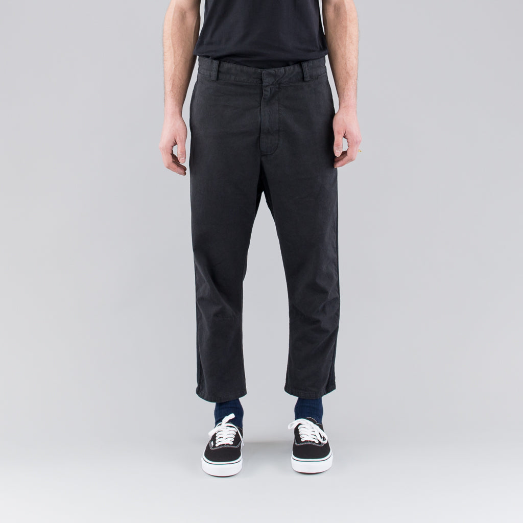 THE BERTRAND PAPER COTTON PANT - BLACK