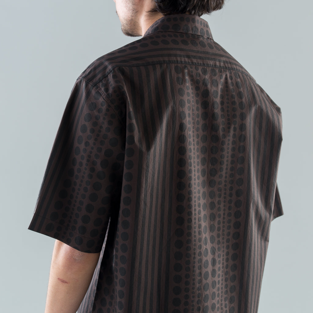 THE DOTTED S/S SHIRT - BRINDLE