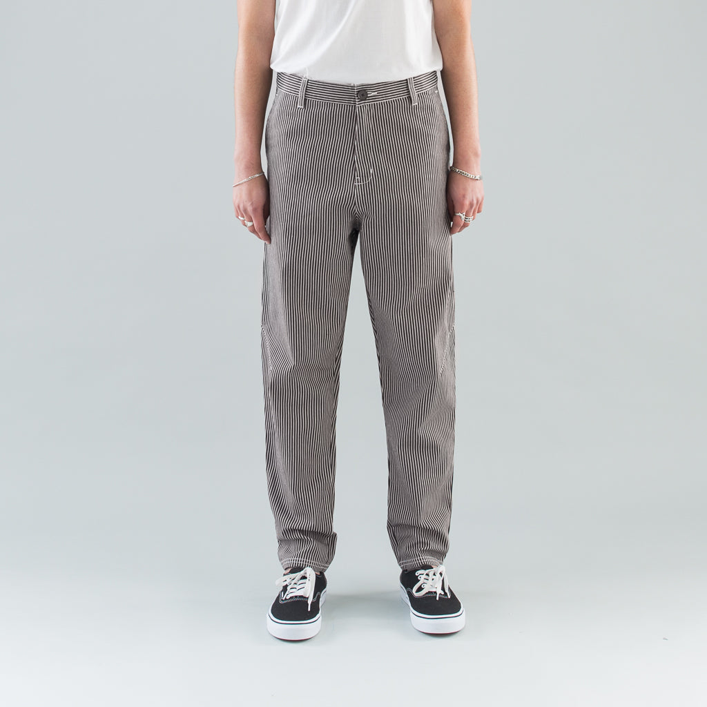 THE STRIPED TAPERED PANT - BIRCH