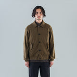 THE DYED COTTON COAT - COFFEE