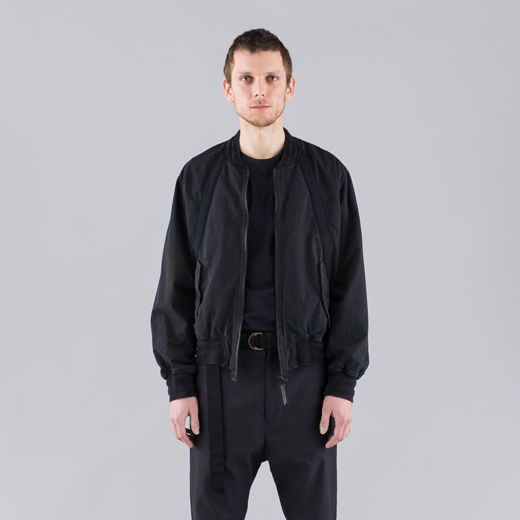 THE BERTRAND PAPER COTTON BOMBER - BLACK
