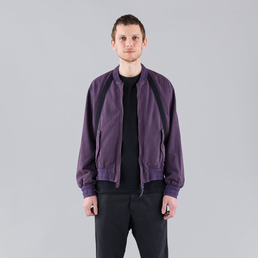 THE BERTRAND PAPER COTTON BOMBER - PURPLE BLUE
