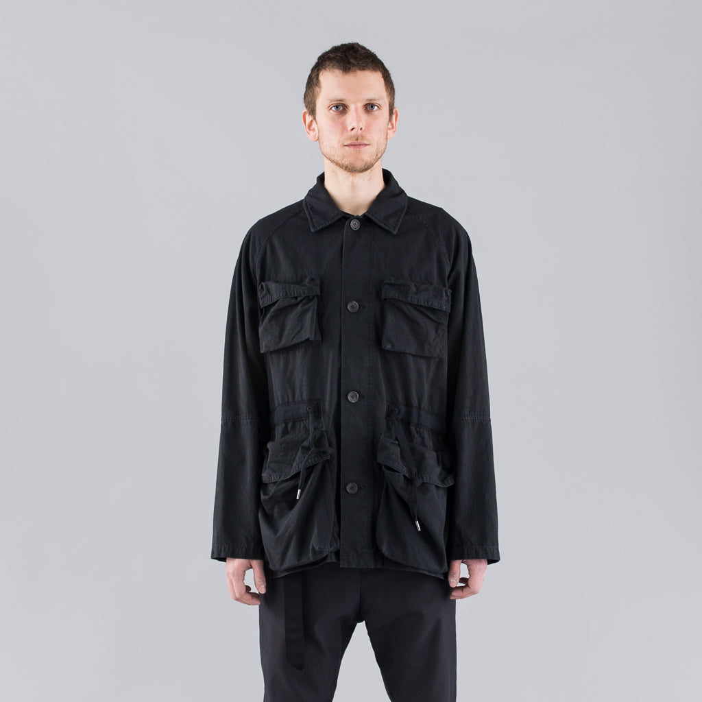 THE BERTRAND PAPER COTTON JACKET - BLACK