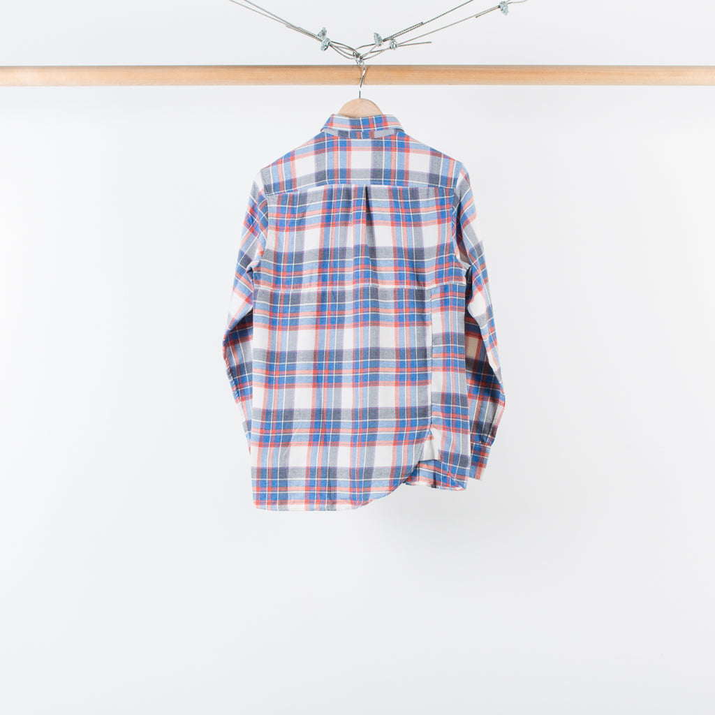 ARCHIVE SALE - SASQUATCHFABRIX - TWIST NEL CHECK SHIRT BLUE CHECK