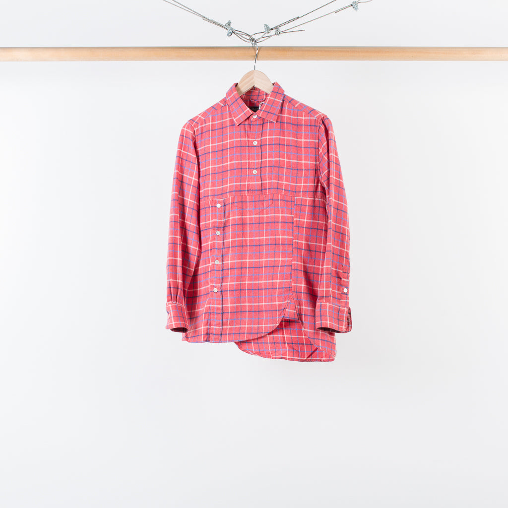 ARCHIVE SALE - SASQUATCHFABRIX - TWIST NEL CHECK SHIRT RED CHECK