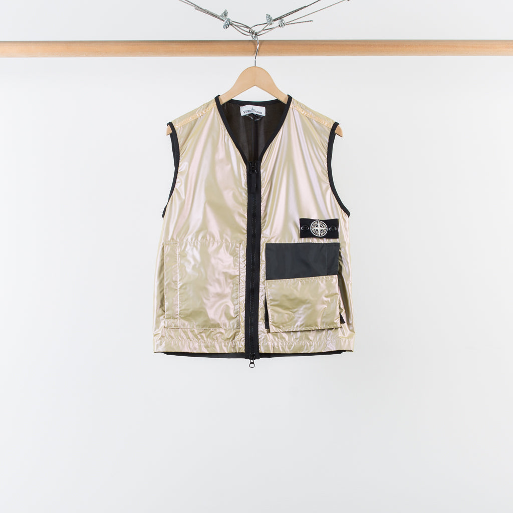 ARCHIVE SALE - STONE ISLAND - IRIDESCENT COATING TELA VEST