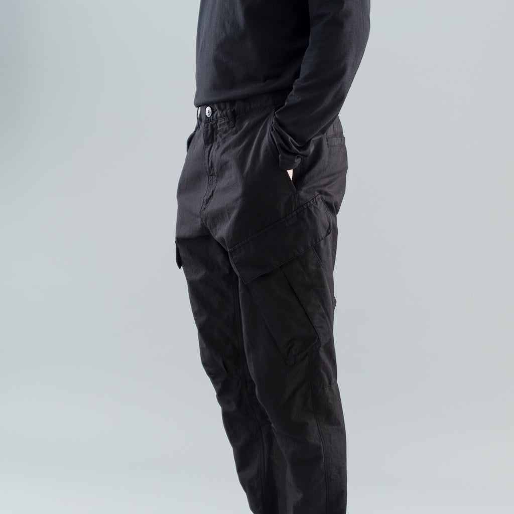 ARTICULATED CARGO PANTS - BLACK