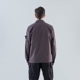 STRUCTURED COTTON SHIRT JACKET - PETROL