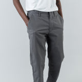 GARMENT DYED CHINO PANTS - PETROL