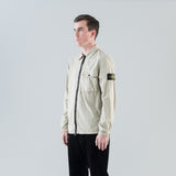 COTTON NYLON POPLIN OVERSHIRT - STUCCO