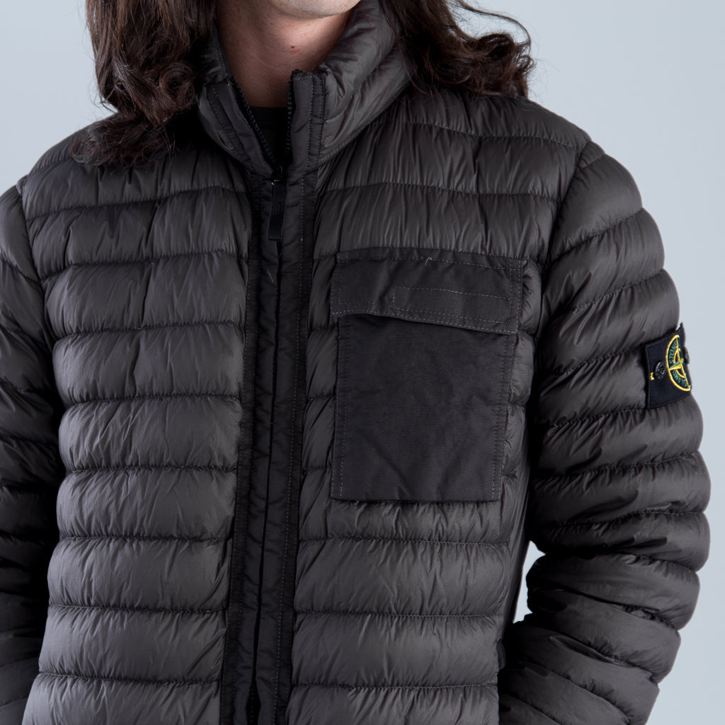 GARMENT DYED MICRO YARN DOWN JACKET - ANTHRACITE