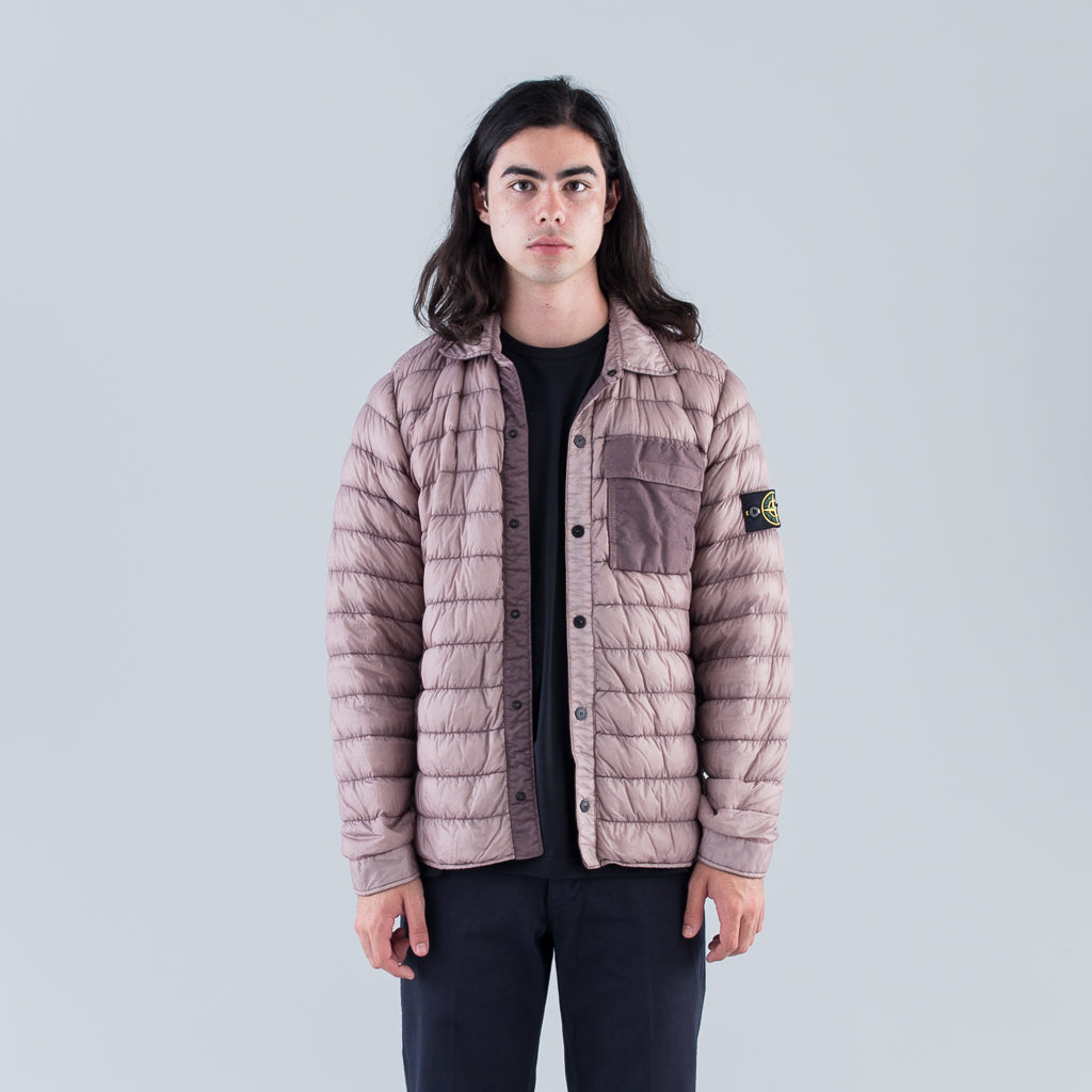 GARMENT DYED MICRO YARN DOWN OVERSHIRT - ROSE QUARTZ