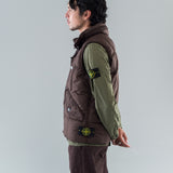 DOWN VEST - DARK BROWN