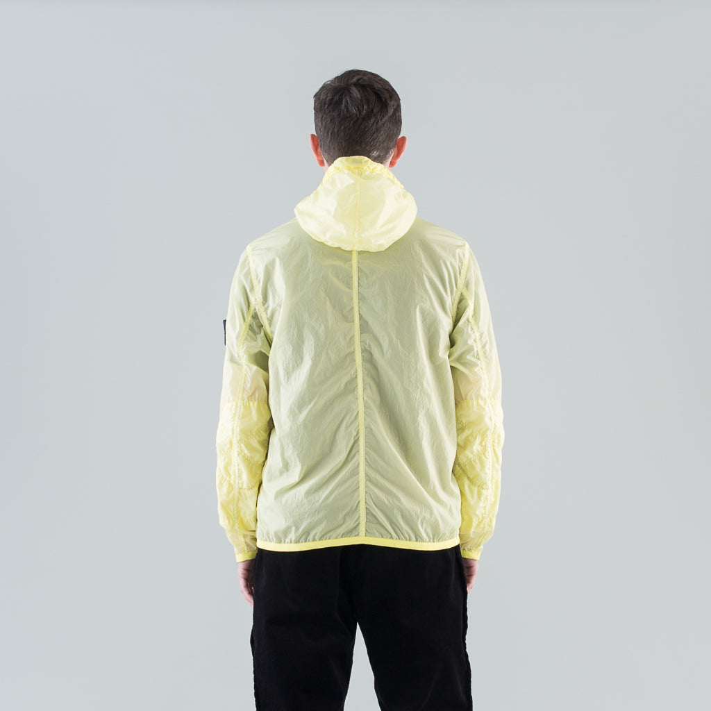LAMY VELOUR HOODED JACKET - LEMON