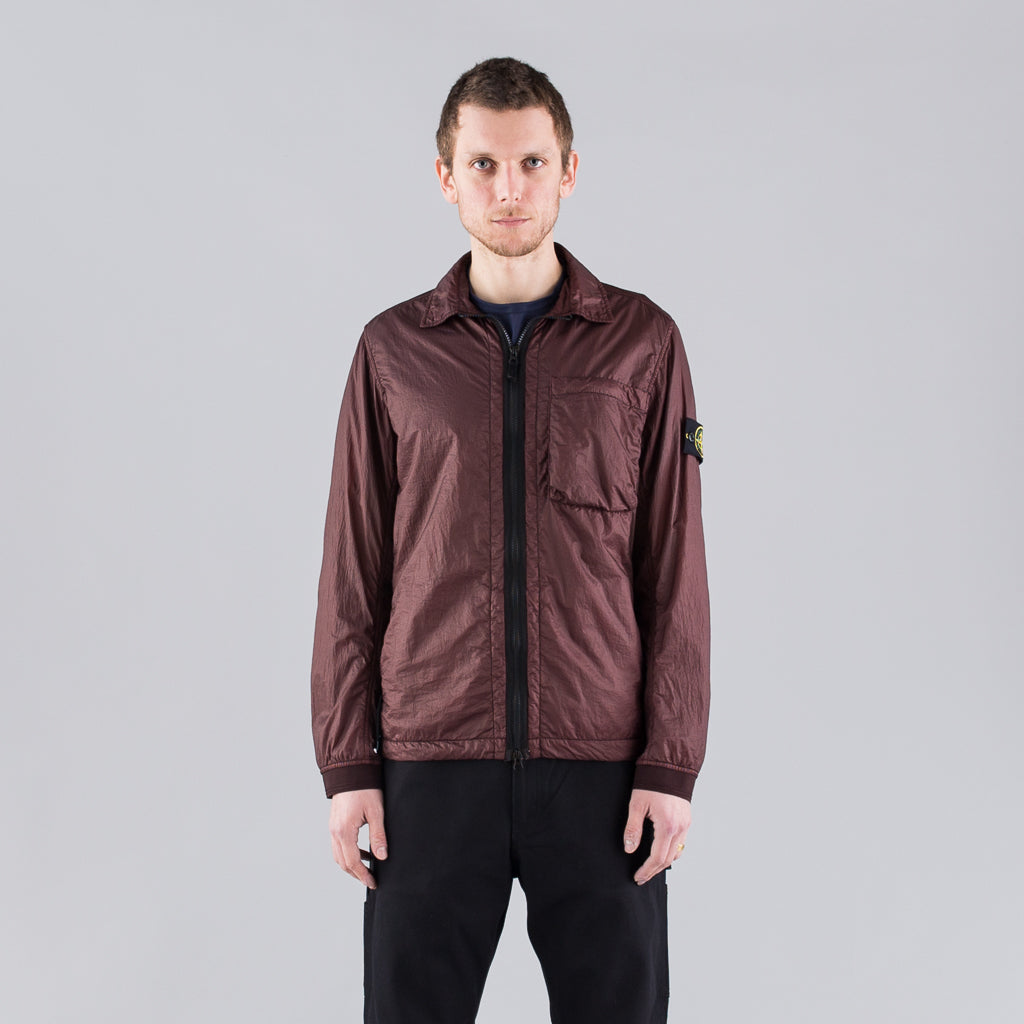 LUCID NYLON SHIRT JACKET - BURGUNDY