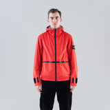 MEMBRANA 3L TC HOODED JACKET - CORAL