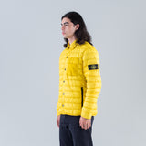 GARMENT DYED MICRO YARN DOWN OVERSHIRT - MUSTARD