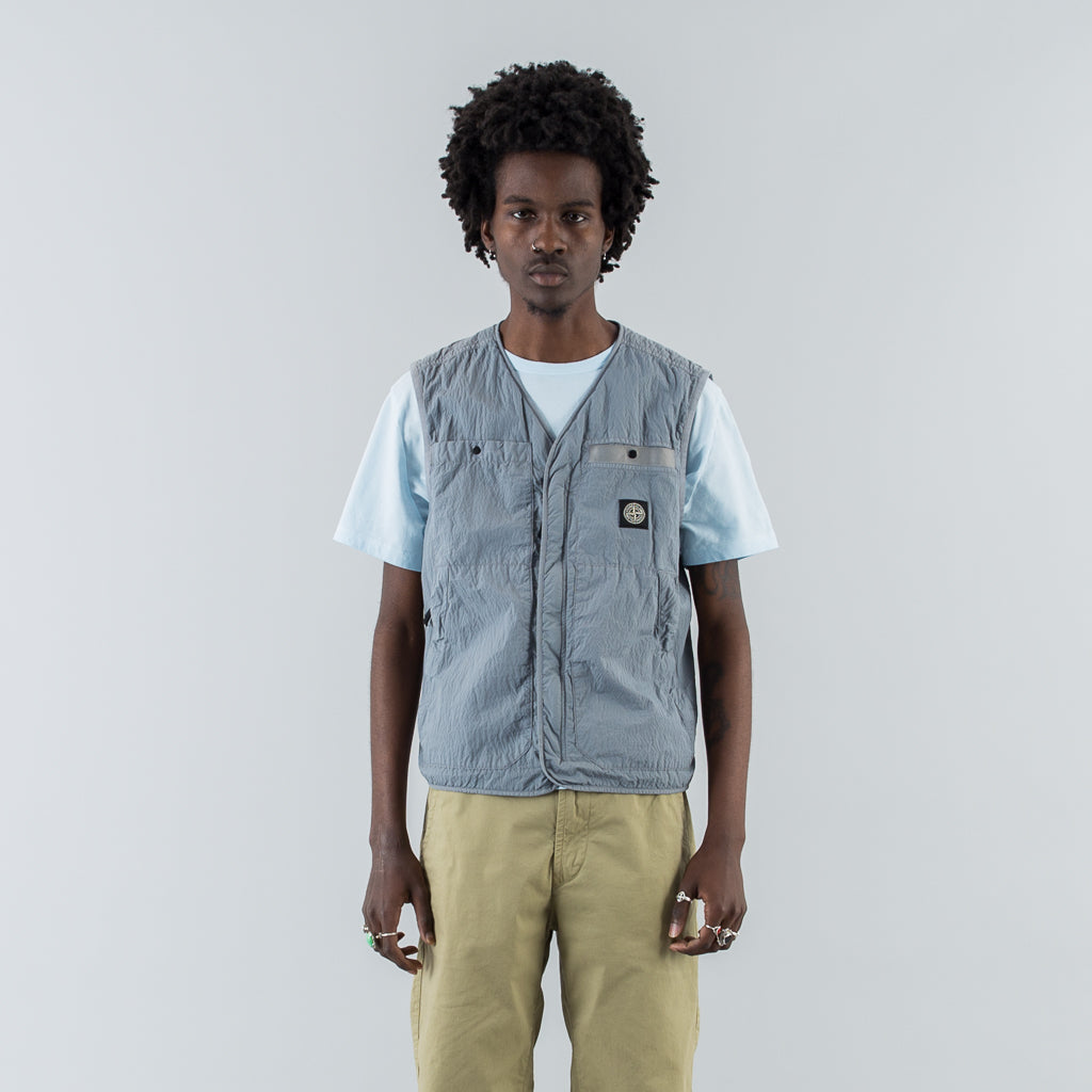 Stone Island Seersucker Tc Vest Powder Maas Stacks